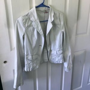 Jackets & Blazers - White Jean Jacket (S)